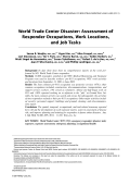 World Trade Center disaster assessment of responder occupations  work locations  and job tasks.