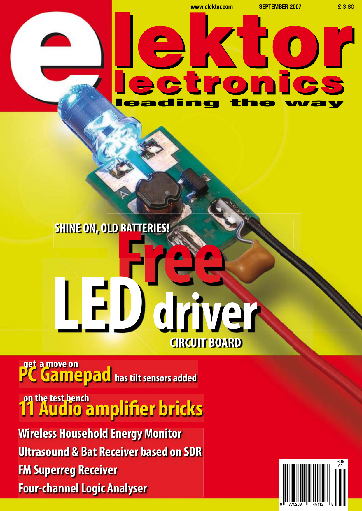 Elector Electronics September 2007 Elektor Publishing In Flickering Circuits And Assorted Lens Sizes From 3mm 10mm 309 2006 Publishingpdf
