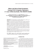 Elbow and wrist hand symptoms among 6 943 computer operators A 1-year follow-up study (the NUDATA study).
