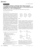 A Straightforward Route to Helically Chiral N-Heteroaromatic Compounds  Practical Synthesis of Racemic 1 14-Diaza[5]helicene and Optically Pure 1- and 2-Aza[6]helicenes.