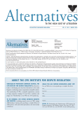 Alternatives' compilation is set for publication this month.