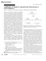 Amplification of Chirality by Supramolecular Polymerization of Pyrene Oligomers.