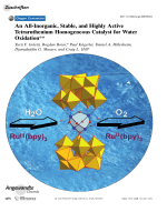 An All-Inorganic  Stable  and Highly Active Tetraruthenium Homogeneous Catalyst for Water Oxidation.