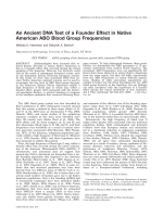 An ancient DNA test of a founder effect in Native American ABO blood group frequencies.