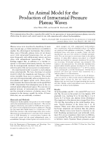 An animal model for the production of intracranial pressure plateau waves.