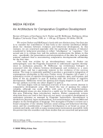 An architecture for comparative cognitive development.