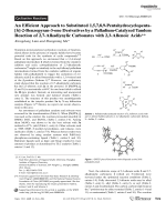 An Efficient Approach to Substituted 1 5 7 8 9-Pentahydrocyclopenta[h]-2-Benzopyran-3-one Derivatives by a Palladium-Catalyzed Tandem Reaction of 2 7-Alkadiynylic Carbonates with 2 3-Allenoic Acids.