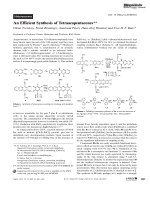 An Efficient Synthesis of Tetraazapentacenes.