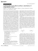 An Electrostatic Gauche Effect in -Fluoro- and -Hydroxy-N-ethylpyridinium Cations.