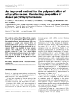 An improved method for the polymerization of ethynylferrocene. Conducting properties of doped polyethynylferrocene