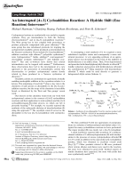 An Interrupted [4+3] Cycloaddition Reaction  A Hydride Shift (Ene Reaction) Intervenes.