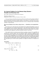 An Inverse Problem for the Benney-Kaup System - Periodic and Decaying Case.