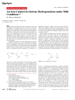 An Iron Catalyst for Ketone Hydrogenations under Mild Conditions.