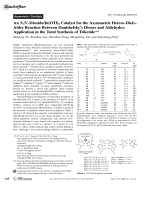 An N N-DioxideIn(OTf)3 Catalyst for the Asymmetric Hetero-DielsЦAlder Reaction Between Danishefsky's Dienes and Aldehydes  Application in the Total Synthesis of Triketide.
