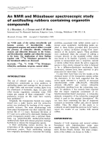 An NMR and mssbauer spectroscopic study of antifouling rubbers containing organotin compounds.
