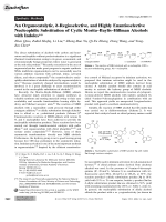 An Organocatalytic  -Regioselective  and Highly Enantioselective Nucleophilic Substitution of Cyclic MoritaЦBaylisЦHillman Alcohols with Indoles.