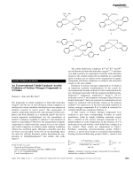 An Unconventional Cobalt-Catalyzed Aerobic Oxidation of Tertiary Nitrogen Compounds to N-Oxides.