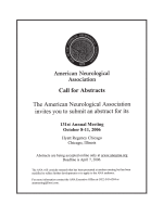 ANA Call for Abstracts.