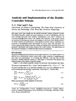 Analysis and Implementation of the Double-Controller Scheme.