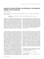 Analysis of dental attrition and mortality in the Medieval village of Tirup  Denmark.
