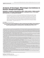 Analysis of genotypeЦphenotype correlations in human holoprosencephaly.