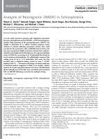 Analysis of neurogranin (NRGN) in schizophrenia.