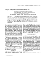 Analysis of repeated reported adult statures.
