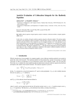Analytic Evaluation of Collocation Integrals for the Radiosity Equation.