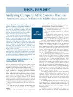 Analyzing company ADR systems practices  Settlement counsel; problems with billable hours; and more.