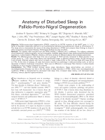 Anatomy of disturbed sleep in pallido-ponto-nigral degeneration.