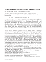Ancient-to-modern secular changes in Korean stature.