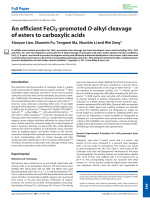 Anefficient FeCl3-promoted O-alkyl cleavage of esters to carboxylic acids.