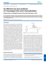 Anefficient one-pot synthesis of 2-benzylpyrroles and 3-benzylindoles.