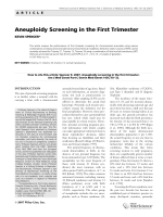 Aneuploidy screening in the first trimester.