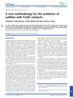 Anew methodology for the oxidation of sulfides with Fe(III) catalysts.