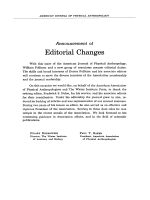 Announcement of editorial changes.