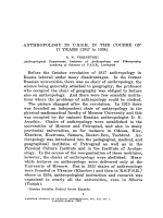 Anthropology in U.S.S.R. in the course of 17 years (1917 to 1934)