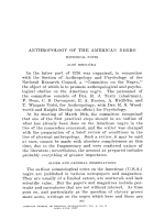 Anthropology of the American negro. Historical notes