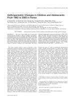 Anthropometric changes in children and adolescents from 1965 to 2005 in Korea.