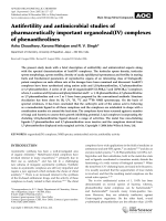 Antifertility and antimicrobial studies of pharmaceutically important organolead(IV) complexes of phenanthrolines.