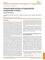 Antimicrobial activity of organotin(IV) compounds  a review.