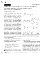 anti-Selective Asymmetric Michael Reactions of Aldehydes and Nitroolefins Catalyzed by a Primary AmineThiourea.