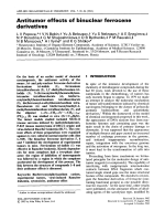 Antitumor effects of binuclear ferrocene derivatives.