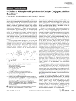 a-Olefins as Alkenylmetal Equivalents in Catalytic Conjugate Addition Reactions.