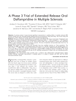 Aphase 3 trial of extended release oral dalfampridine in multiple sclerosis.