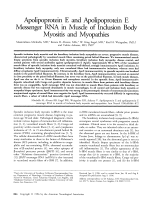 Apolipoprotein E and apolipoprotein E messenger RNA in muscle of inclusion body myositis and myopathies.