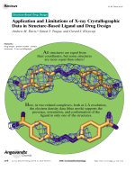 Application and Limitations of X-ray Crystallographic Data in Structure-Based Ligand and Drug Design.