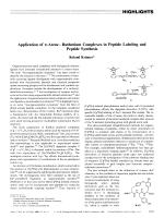 Application of -AreneЦRuthenium Complexes in Peptide Labeling and Peptide Synthesis.