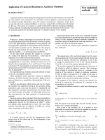 Application of Catalyzed Reactions in Analytical Chemistry.