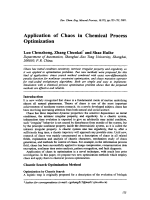 Application of Chaos in Chemical Process Optimization.